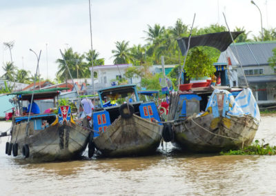 Drachenboote in Cai Be, Mekong-Delta