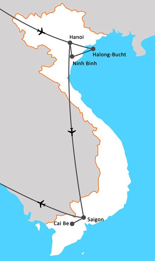 Landkarte Bezauberndes Vietnam