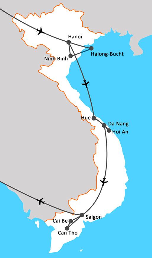 Landkarte Vietnam entdecken