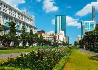 Fußgängerzone Nguyen Hue in Ho-Chi-Minh-Stadt
