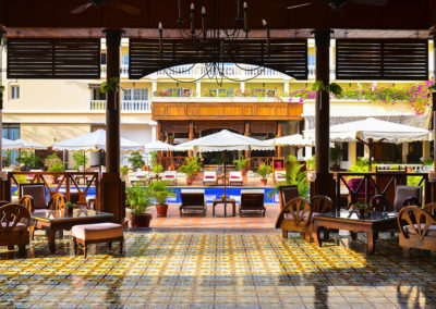 Victoria Can Tho Resort: Terrasse
